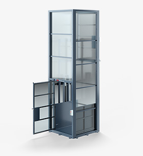 Mastlift with open doors