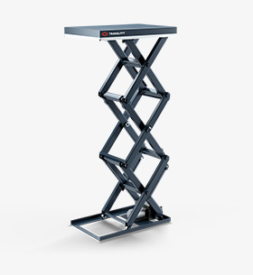 Tripple vertical scissor lift