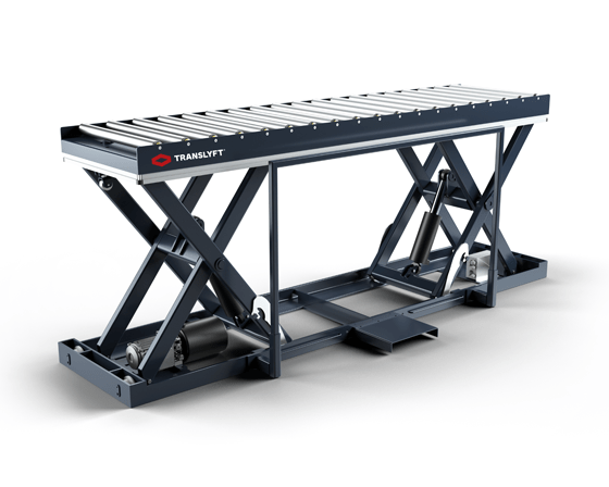 translyft lifting table with roller conveyor