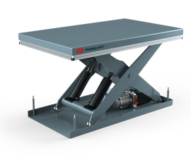 grey silverline scissor lift table