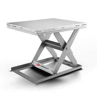 lifting table in hygienic design