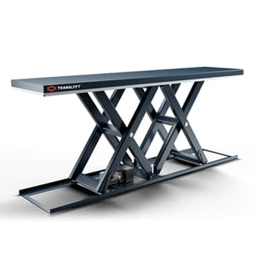 Double horisontal scissor lift table