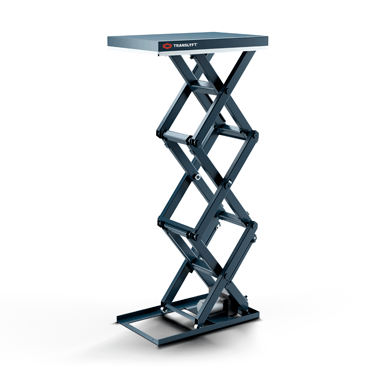 Triple vertical lifting table