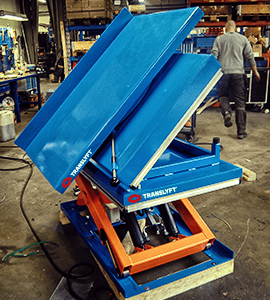 scissor lift with both tilt and turn table